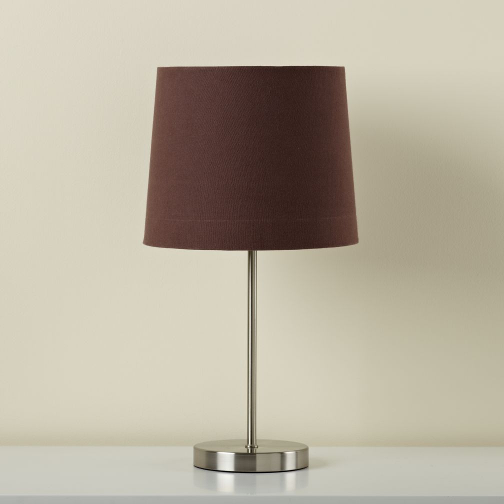 Chocolate Light Years Table Shade (shown with Nickel Base)