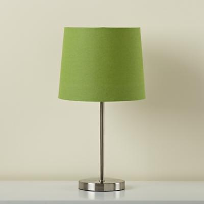 Light Years Green Table Shade and Nickel Base