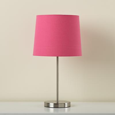 Light Years Hot Pink Table Shade and Nickel Base