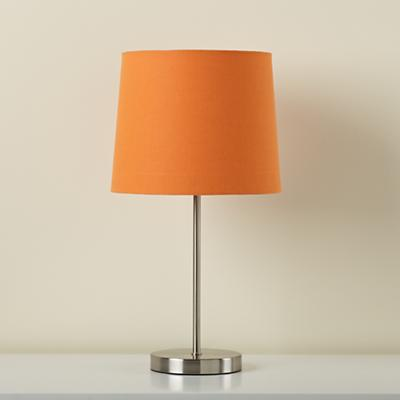 Light Years Orange Table Shade and Nickel Base
