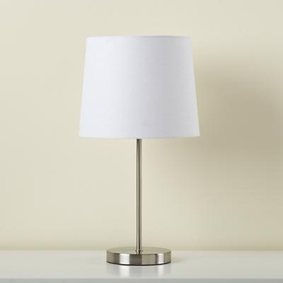 Light Years White Table Shade and Nickel Base