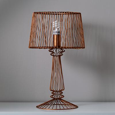 Real Light Wire Table Lamp (Bronze)