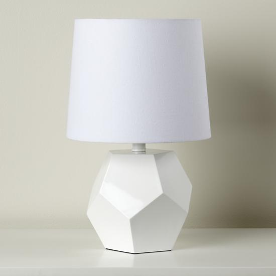 White Table Lamps : Geometric Table Lamp Base (White)  The Land of Nod