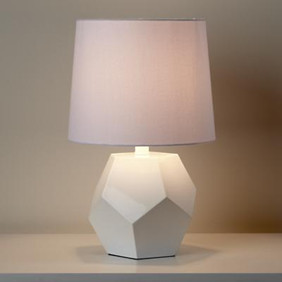 Between a Rock and a Lamp Base (White)