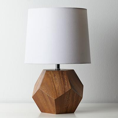 Wooden Geometric Table Lamp Base The Land Of Nod