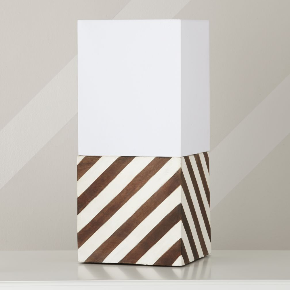 Modern Cube Lamp Shade & Base