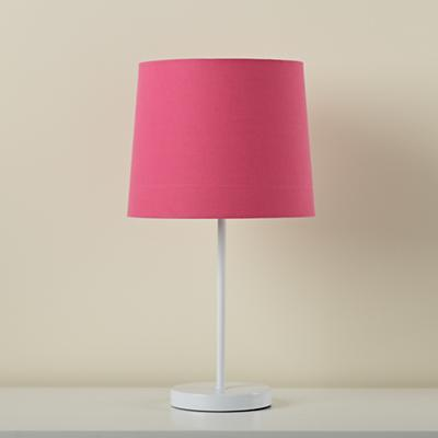 Light Years Hot Pink Table Shade and White Base