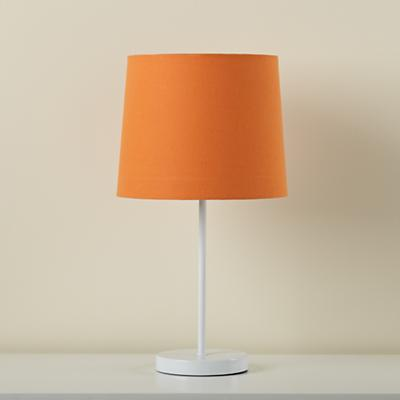 Light Years Orange Table Shade and White Base