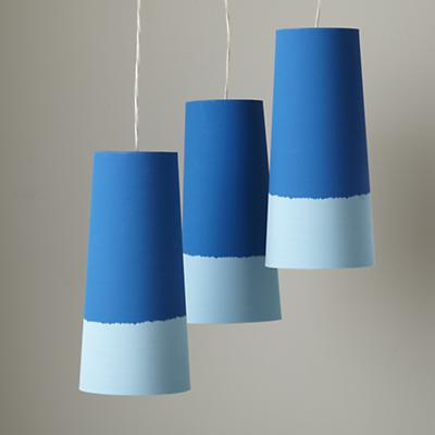 Set of 3 Lighten Up Blue Pendants (Blue)