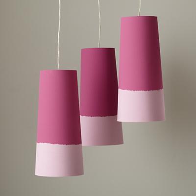 Set of 3 Lighten Up Pendant Lamps (Pink)