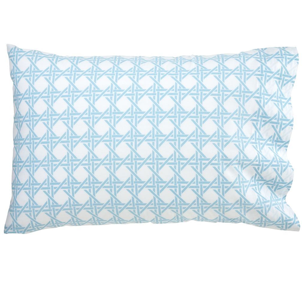Blue Lattice Pillowcase