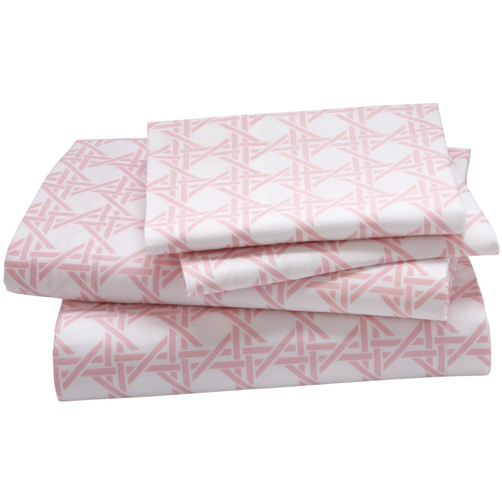 Lattice Sheet Set (Pink)