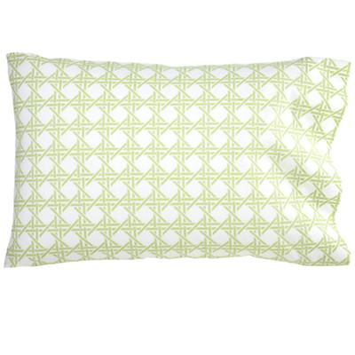 Green Lattice Pillowcase