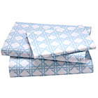 Twin Blue Lattice Sheet Set(includes 1 fitted sheet, 1 flat sheet and 1 case)