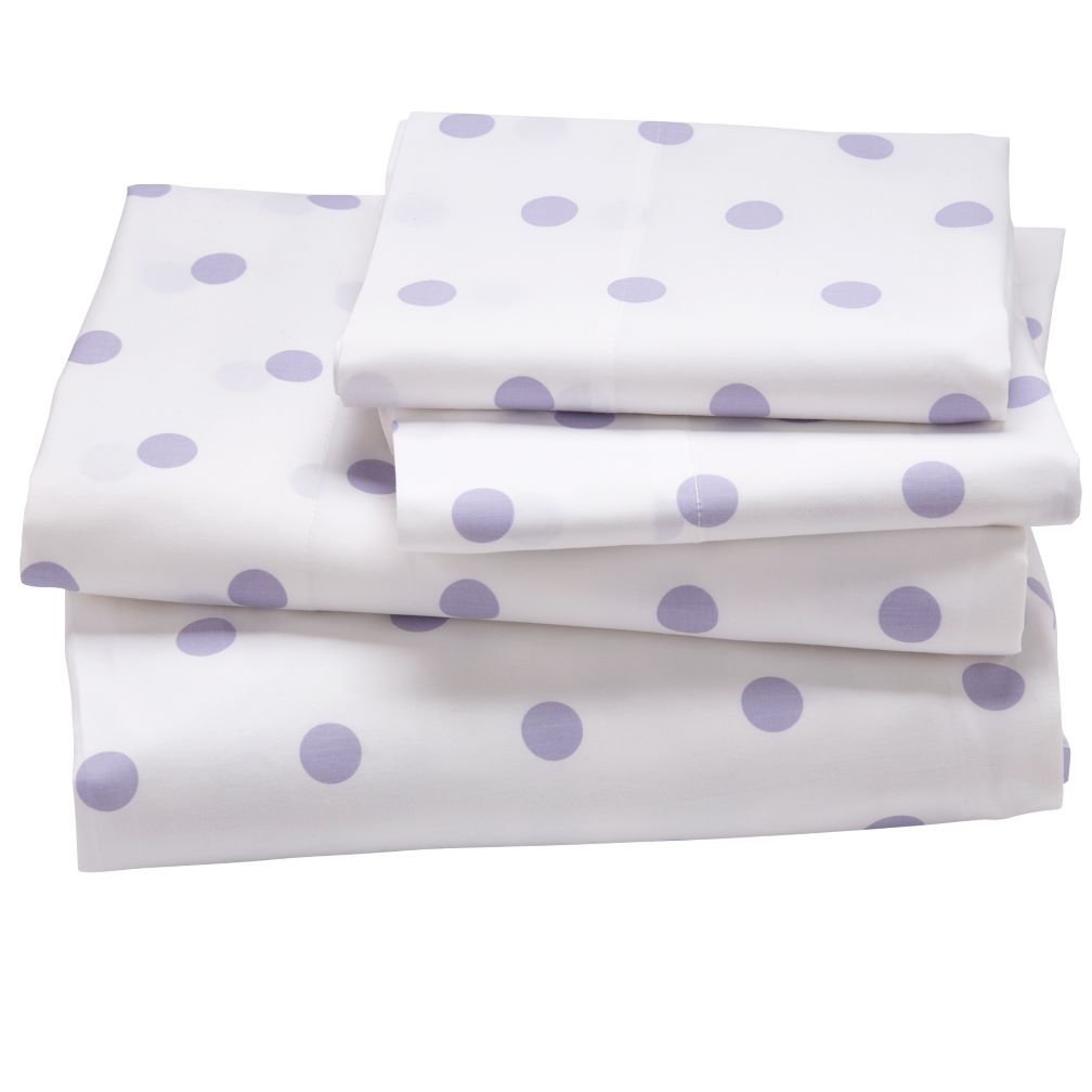 Lavender Pastel Dots Sheet Set (Full)