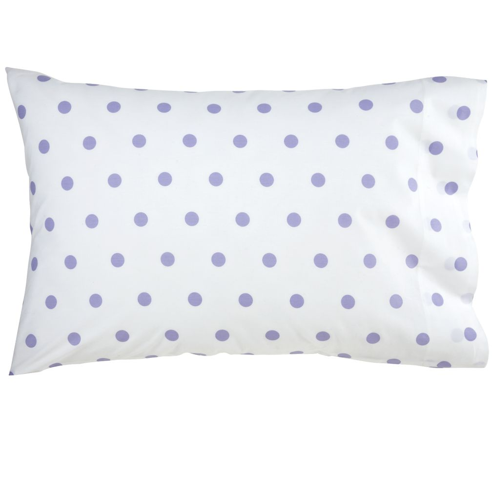 Lavender Pastel Dots Pillowcase