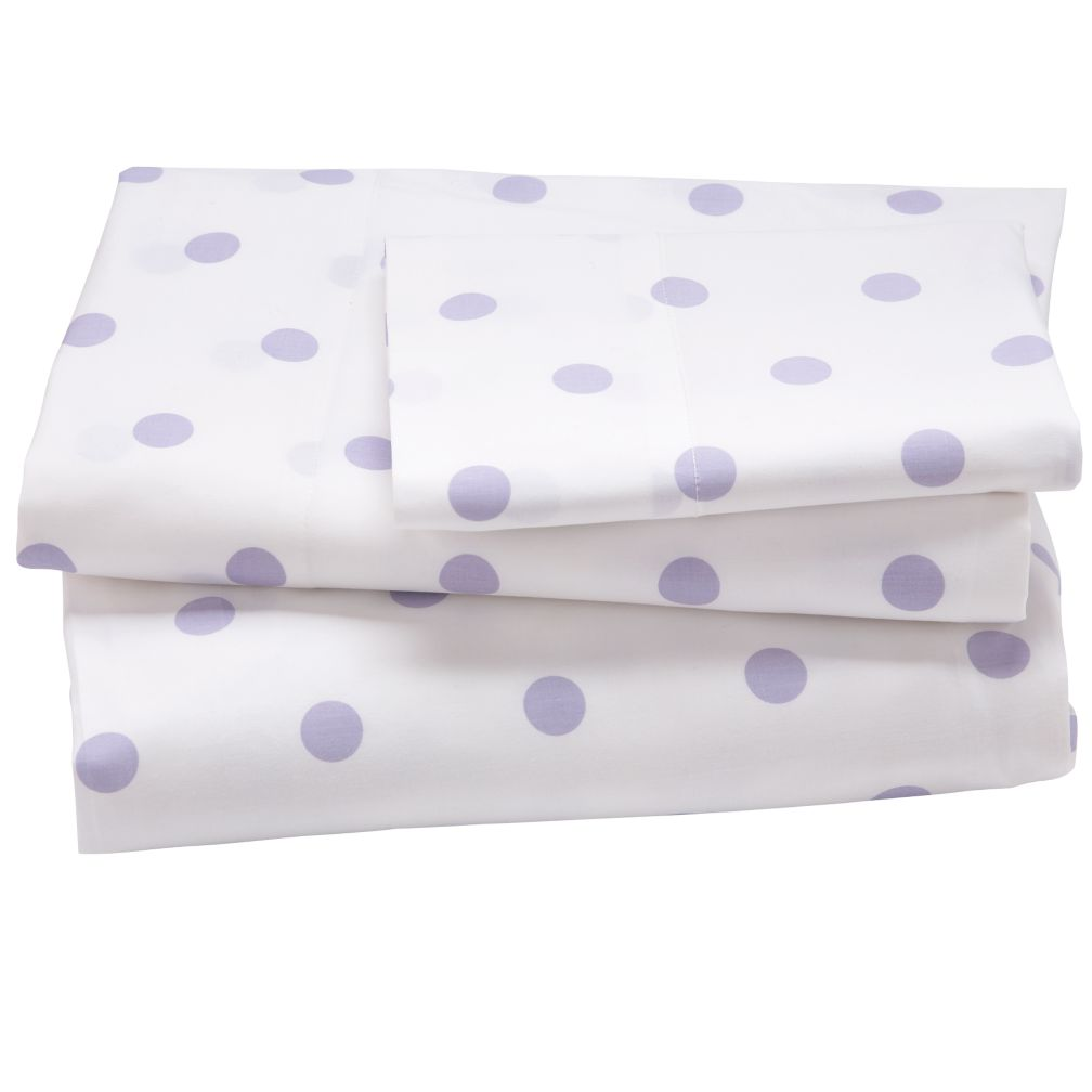 Lavender Pastel Dots Sheet Set (Twin)