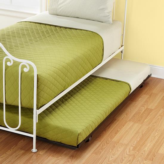 kids trundles kids metal storage trundle the land of nod. Black Bedroom Furniture Sets. Home Design Ideas