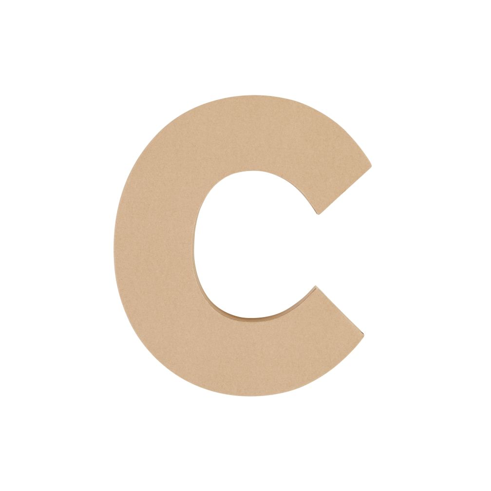 Large C Crafty Kraft Paper Letter
