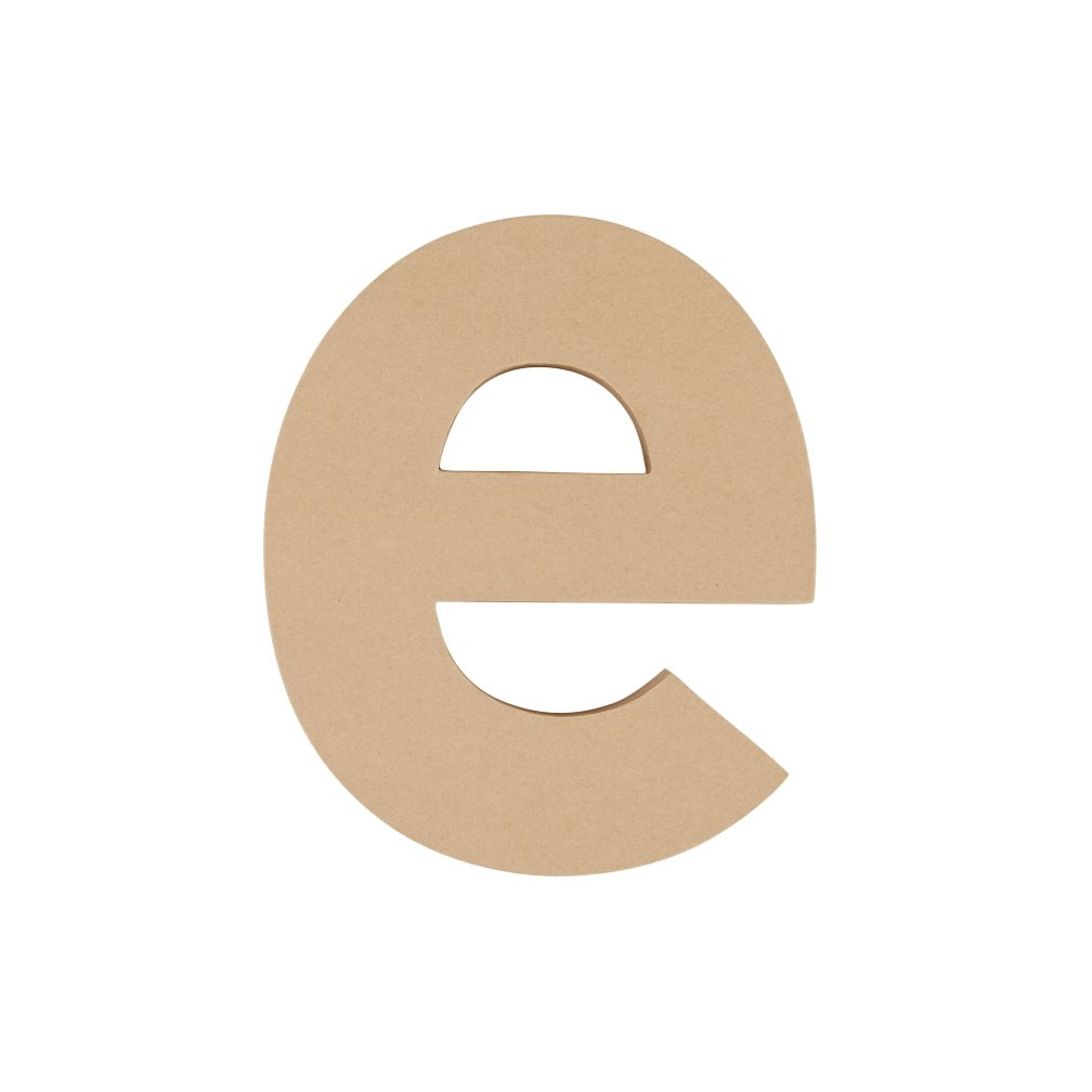 Large E Crafty Kraft Paper Letter