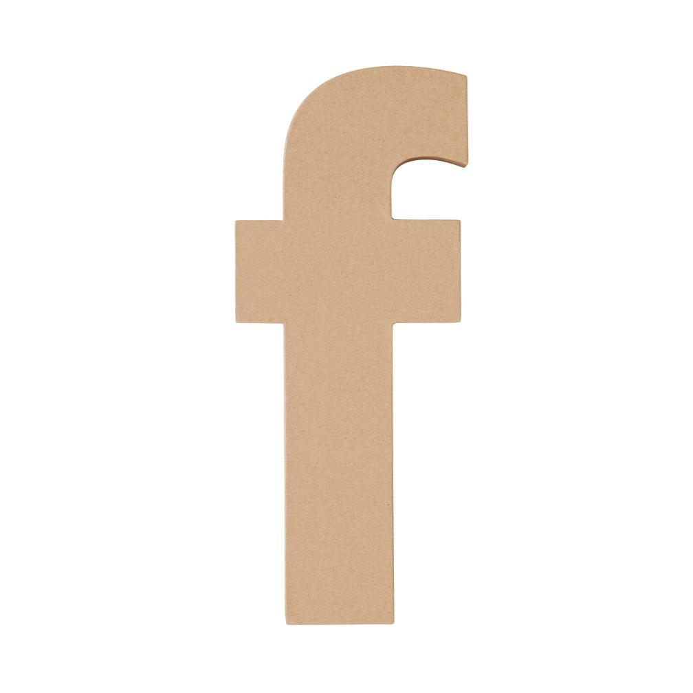 Large F Crafty Kraft Paper Letter