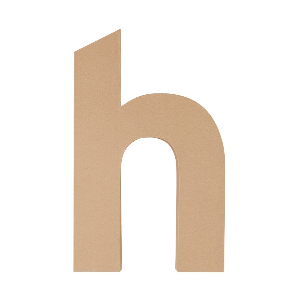 Large H Crafty Kraft Paper Letter