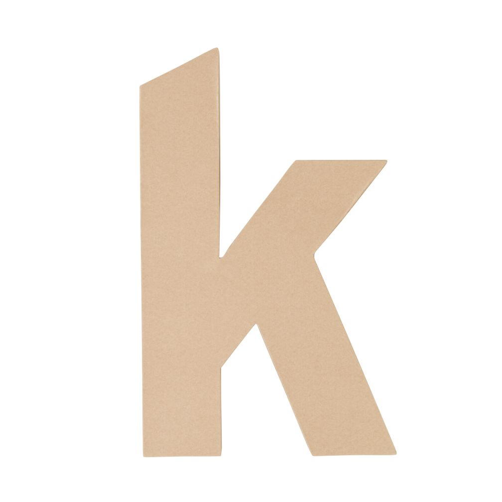 Large K Crafty Kraft Paper Letter