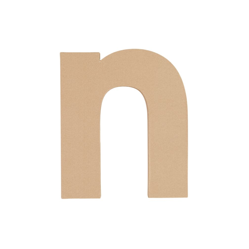 Large N Crafty Kraft Paper Letter