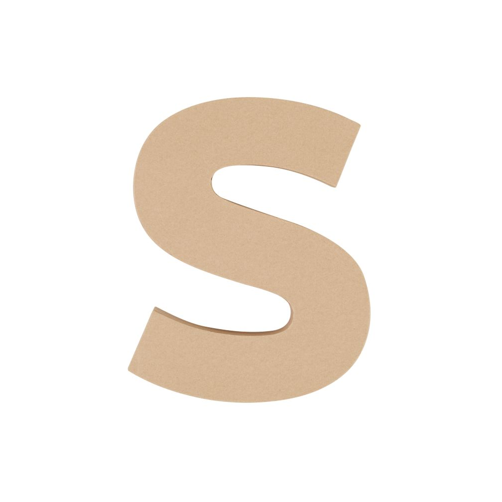 Large S Crafty Kraft Paper Letter