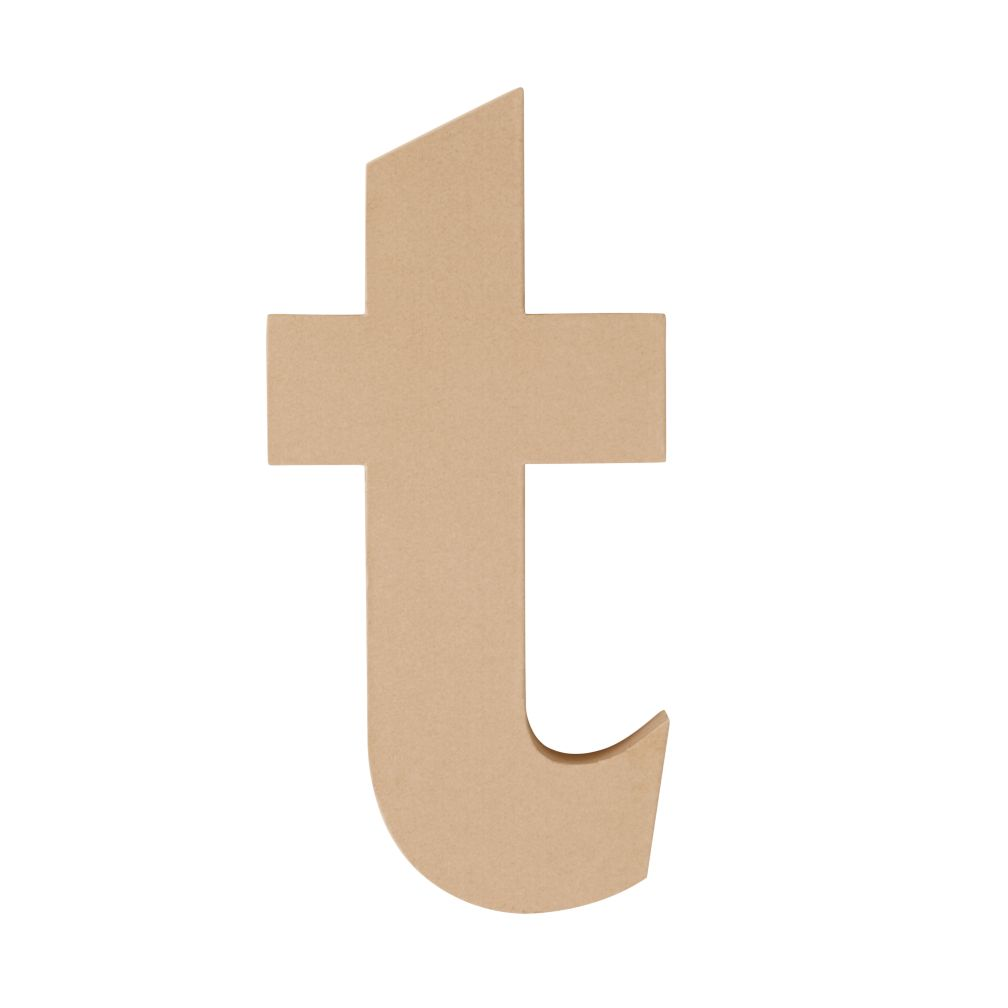 Large T Crafty Kraft Paper Letter