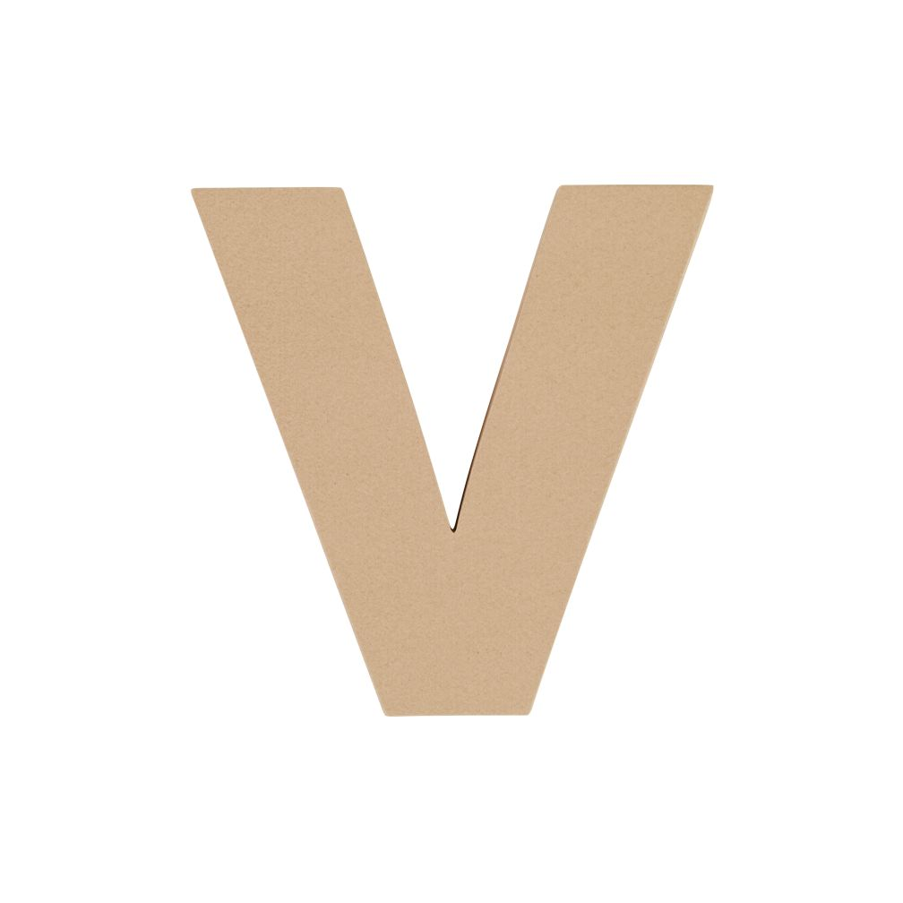 Large V Crafty Kraft Paper Letter