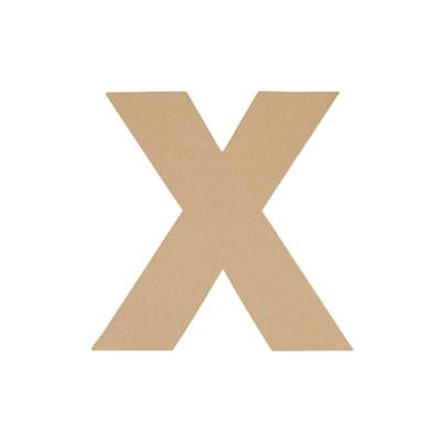 Large X Crafty Kraft Paper Letter