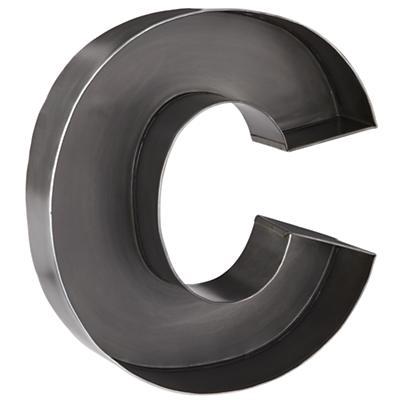 C Magnificent Metal Letter