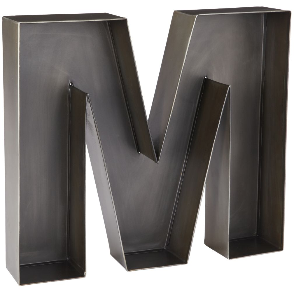 M Magnificent Metal Letter