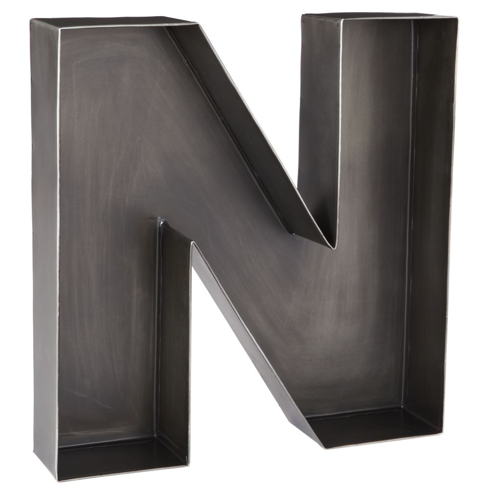 N Magnificent Metal Letter