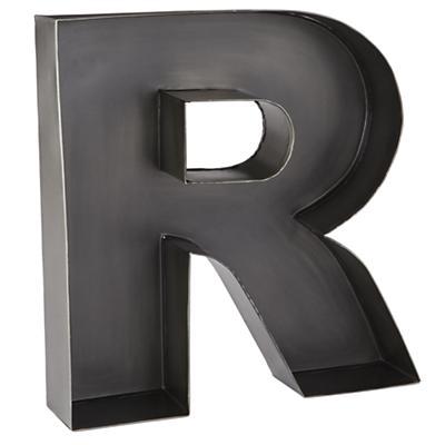 R Magnificent Metal Letter