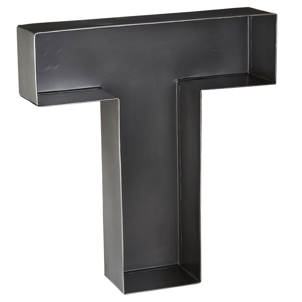 T Magnificent Metal Letter