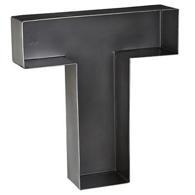 T Magnificent Metal Letter