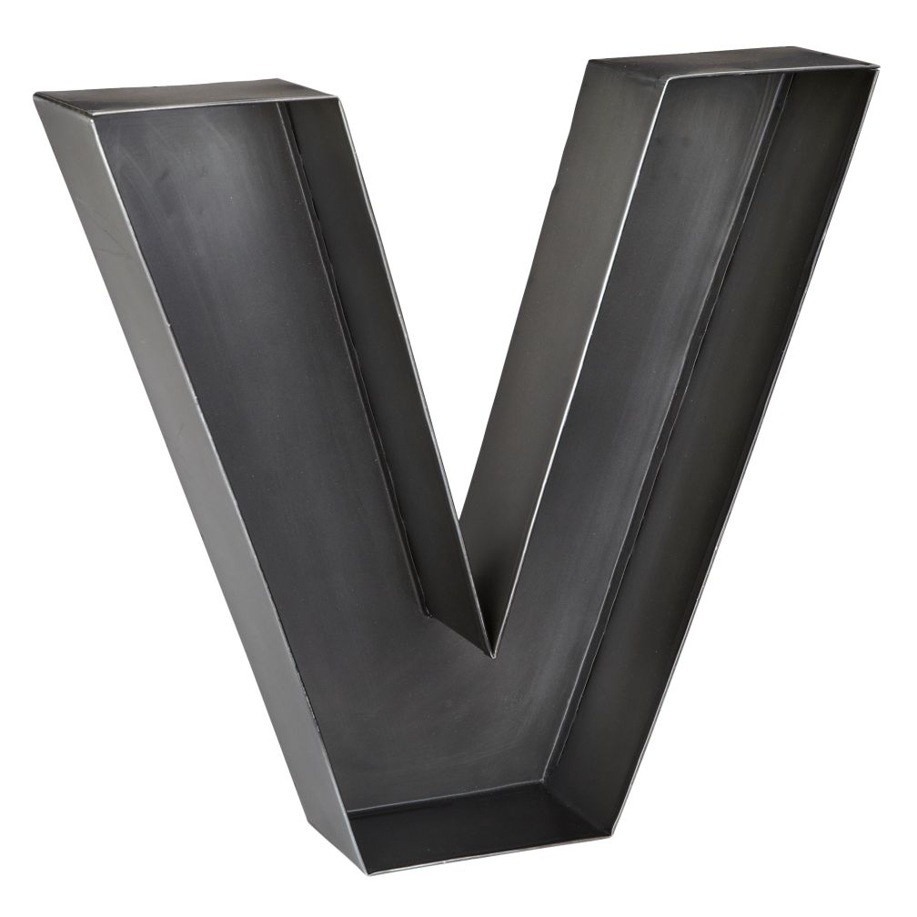 V Magnificent Metal Letter