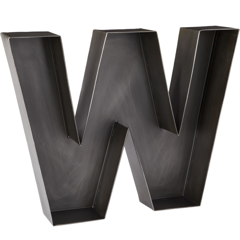 W Magnificent Metal Letter