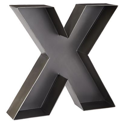 X Magnificent Metal Letter