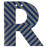'R' Perfect Pattern Boy Letter