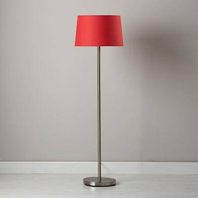 Light Years Red Floor Shade and Nickel Base