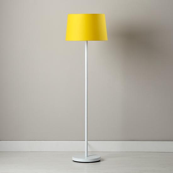 Yellow lamp shade for nursery for Nursery floor lamp shades