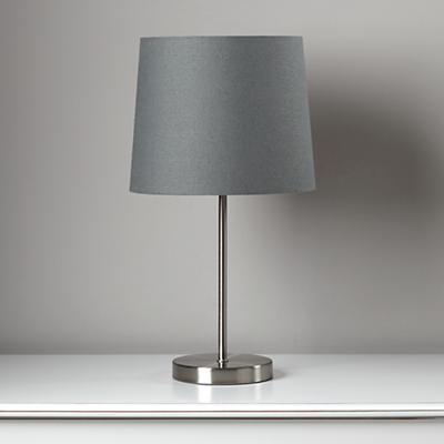 Light Years New Grey Table Shade and Nickel Base