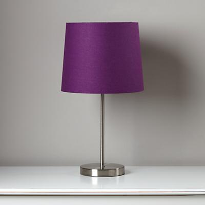 Light Years Purple Table Shade and Nickel Base