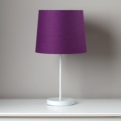 Light Years Purple Table Shade and White Base