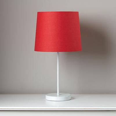 Light Years Red Table Shade and White Base