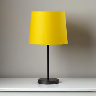 Light Years Yellow Table Shade and Graphite Base