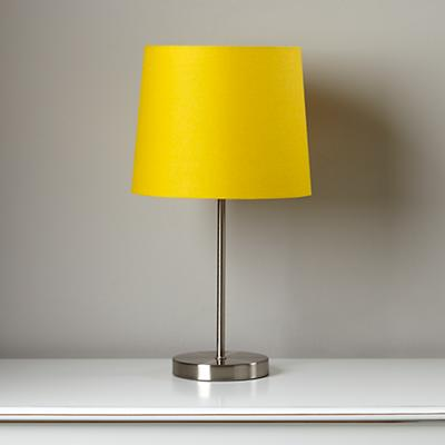 Light Years Yellow Table Shade and Nickel Base